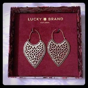 NWT ☘️Lucky Brand Pave Filagree Drop Earrings